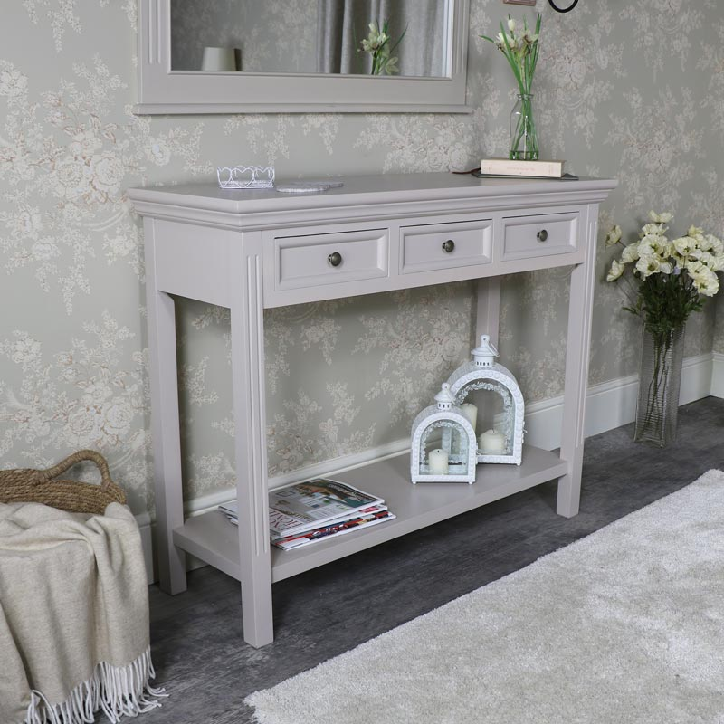 Grey Console Table Daventry Taupe Grey Range Melody Maison