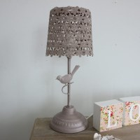 brown bird design vintage effect table lamp home ...