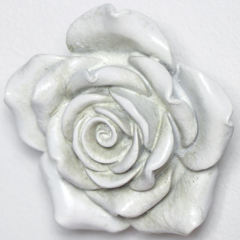 Ornate White Rose Wall Art Melody Maison