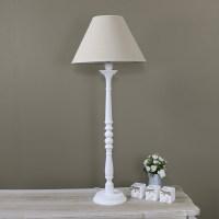 Tall White Table Lamp - White Lamp with Shade - Melody Maison