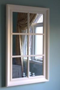 Cream large wall mirror window frame shabby French chic | eBay