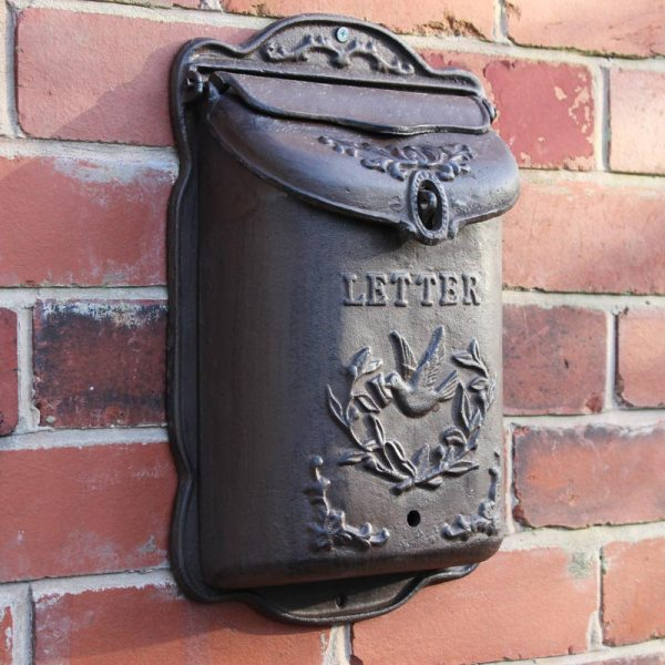Wall Mounted Cast Iron Post Box Outdoor Letters