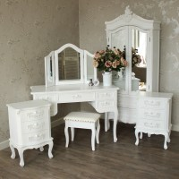 Furniture Bundle, Antique White Closet, Dressing Table ...