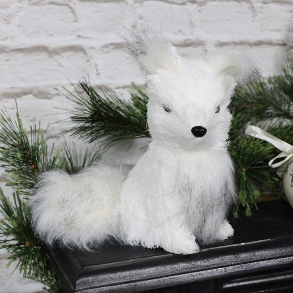 Christmas Decoration White Fox