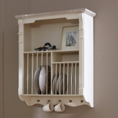 Wall Mounted Kitchen Shelves Storage Units Melody Maison Cream Plate Rack Lyon Range