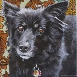 "Amelia, 2012, Full Colour Acrylic Painting on Canvas, 10""x10"""