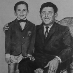 "John and Fernando, Graphite Pencil Drawing on Paper, 11""x14"""