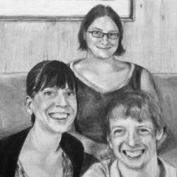 Sarah, Melody and Scott, 2013,