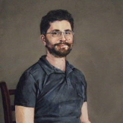 "Carl, 2019, Acrylic Painting on Canvas, 10"" x 14"""