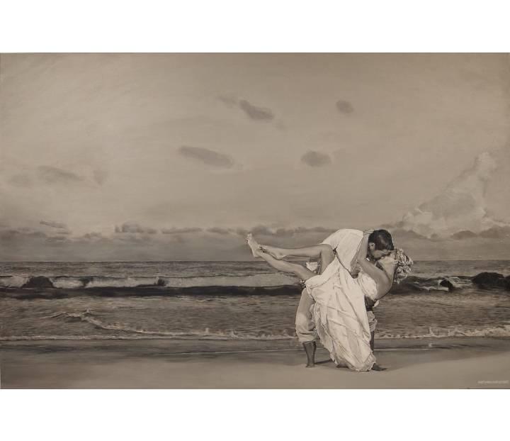 "Sandra and Craig, 2017, Acrylic Painting on Canvas, 36"" x 54"""