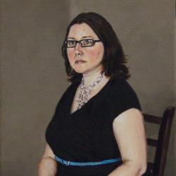 """Sarah, 2019, Acrylic Painting on Canvas, 10"""" x 14"""""""