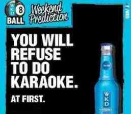 wkd karaoke advert