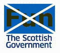 No Fun: The Scottish Government logo