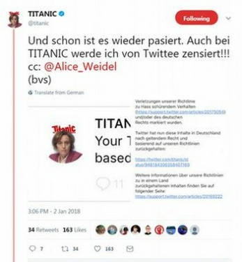 banned titanic tweet