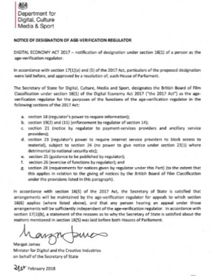 bbfc appointed