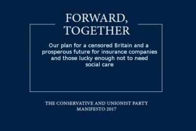 tory manifesto 2017 mock up