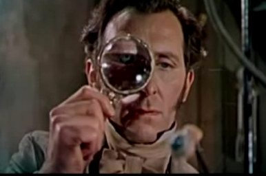 curse of frankenstein eyeball scene video