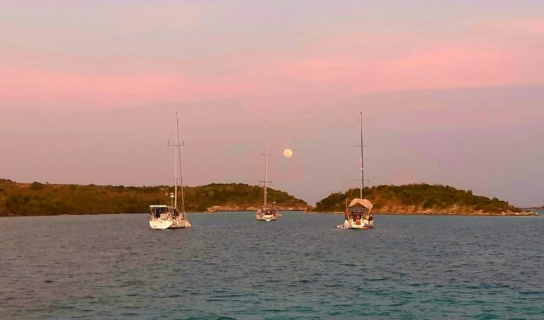 Great Bird Island anchorage