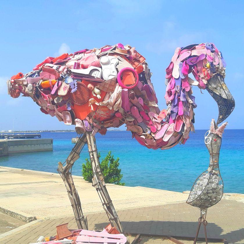 Flamingo Statue Bonaire