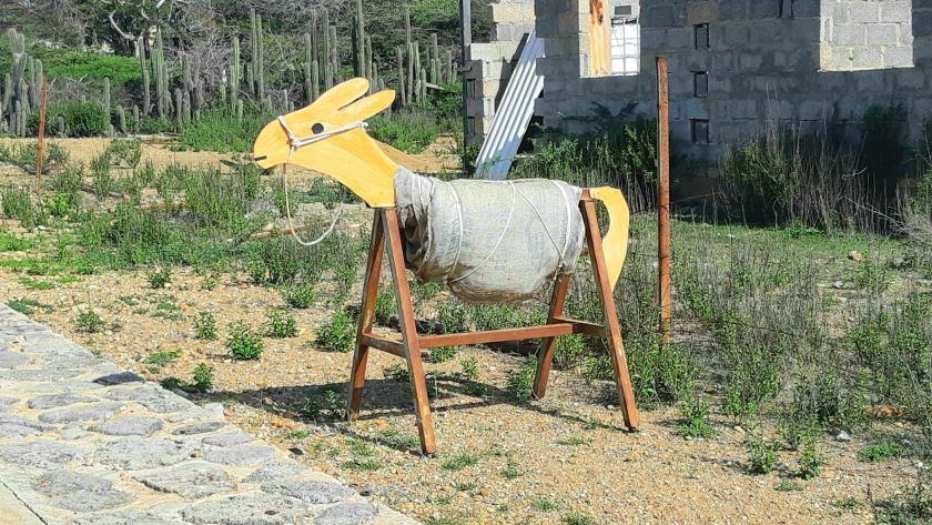Donkey structure Bonaire