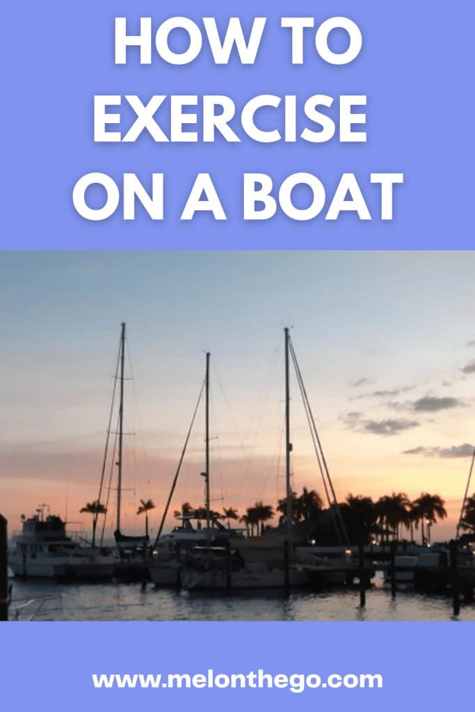 PIN EXERCISE ON A BOAT