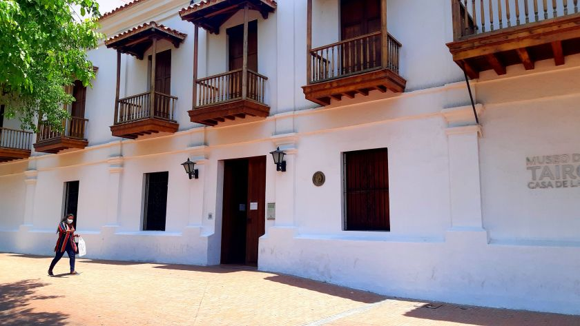 exterior of Gold Museum in Santa Marta