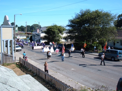 beginning of the festa parade