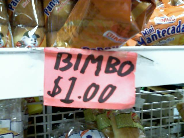 sign in a mexican grocery store