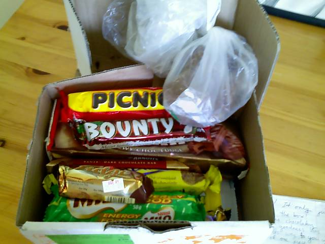 box of candy from new zealand