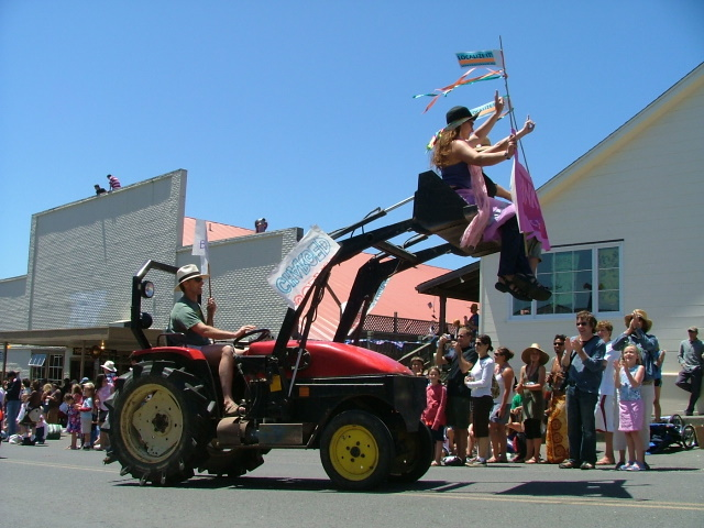 code pink in the mendocino fourth of july parade