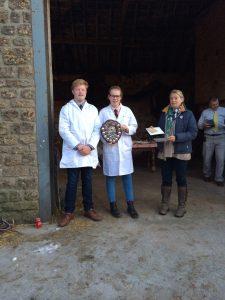 Jasper & Henrietta Love, Junior Winners, Sherborne YFC.  Pictured with Vice Chairman, Jo Sage