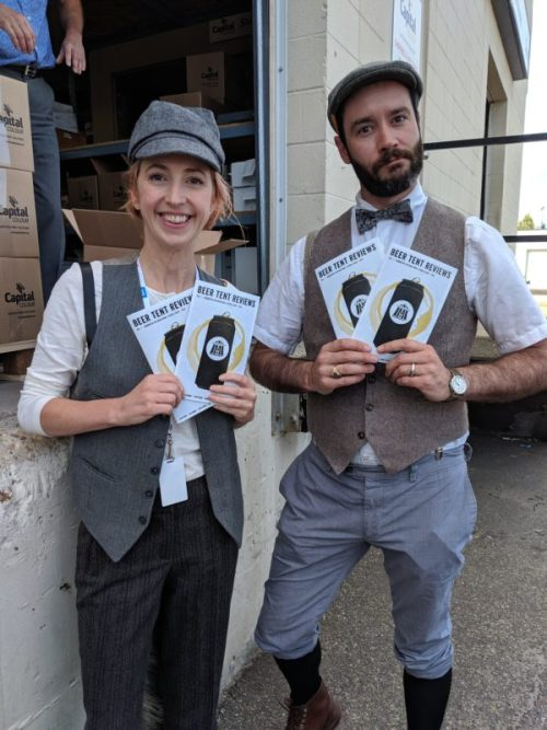 Beer Tent Reviews Andrew Paul and JoAnne Pearce 2019 Edmonton Fringe