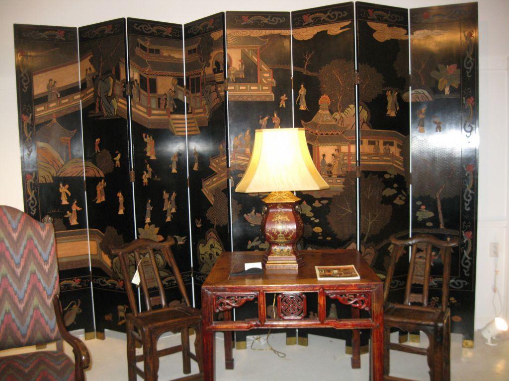Chinese Coromandel 8 panel Screen