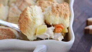 Chicken Pot Pie {Biscuit or Pie Crust Top}