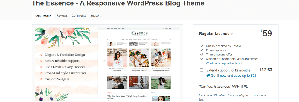best wordpress themes for blogs- the essence