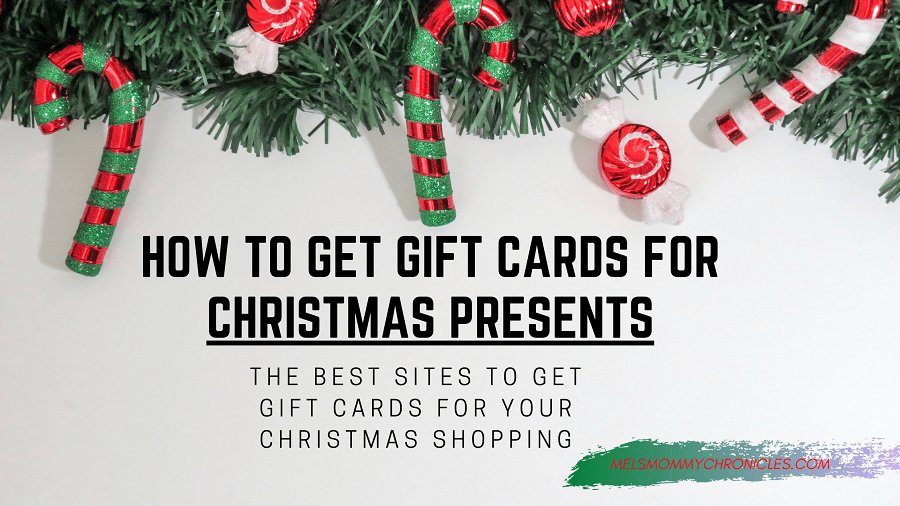 HOW TO GET GIFT CARDS FOR CHRISTMAS PRESENTS