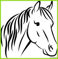 4 Vorlage Pferdekopf 71600 MelTemplates