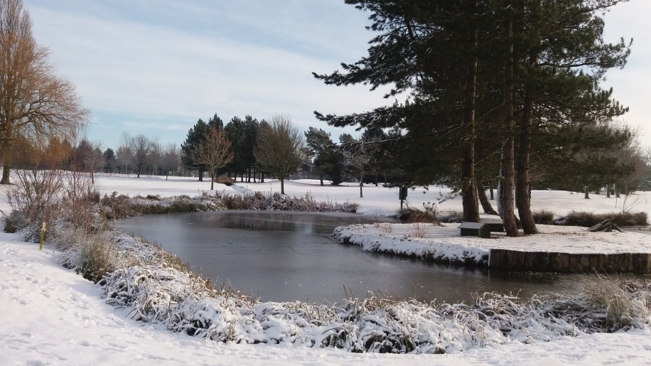 Lovely View over Pond up the 9th