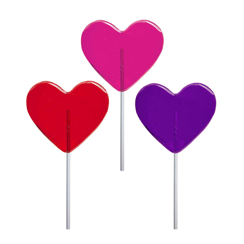 Valentine Medium Heart Lollipops By Melville Candy
