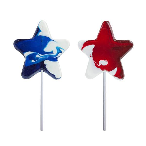 Patriotic Swirl Star Lollipops Melville Candy