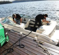 get mold out of boat carpet