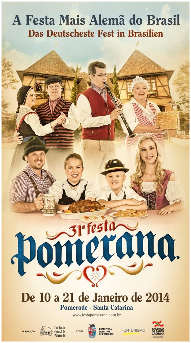 Cartaz oficial da 31ª Festa Pomerana | Imagem: Reprodução