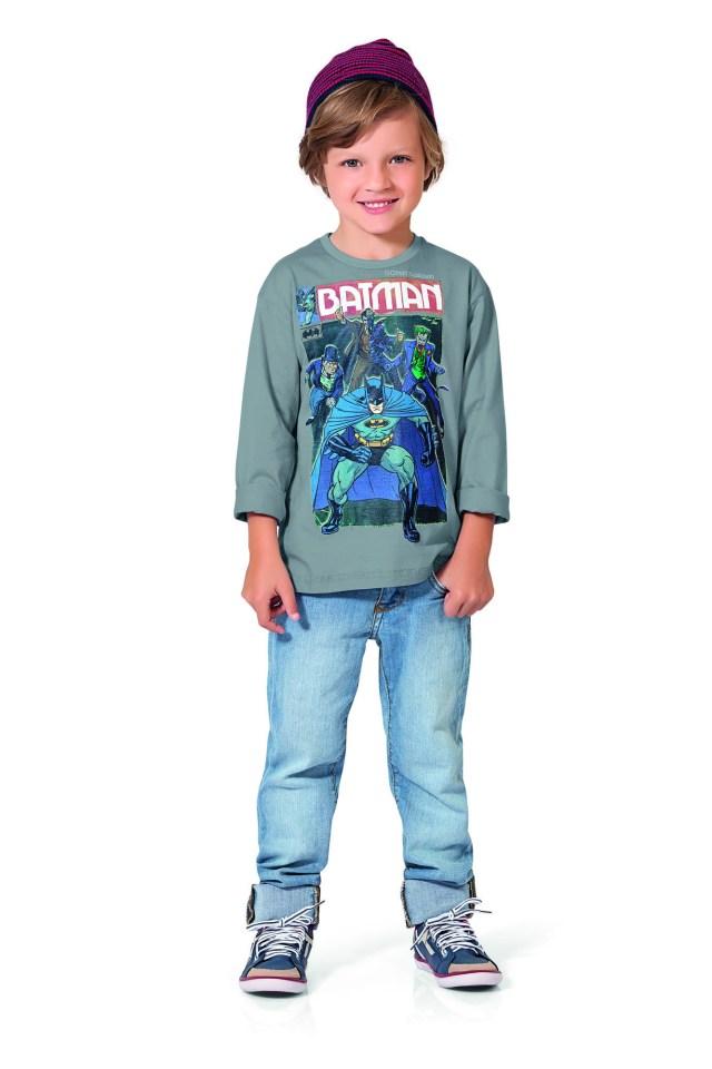 Produtos com estampas do Batman já representam 18% do faturamento dentre os licenciados. Imagem: Actonove Fashion Photography