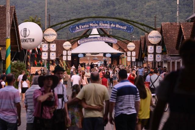 A organização da 32ª Festa Pomerana espera receber um público de 80 mil pessoas. Imagem: Daniel Zimmermann