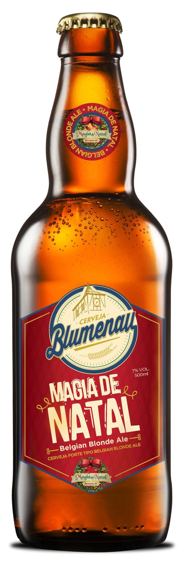 Cerveja Blumenau Magia de Natal será lançada oficialmente no dia 14 de novembro. Imagem: Reprodução