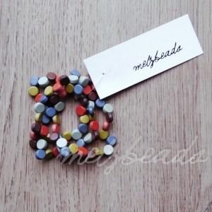 Multi-Coloured Pastel Wooden Bracelet
