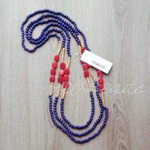 Red Splash Layered Necklace