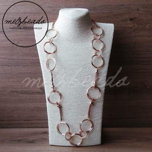 Clarice Rose Gold Links Necklace