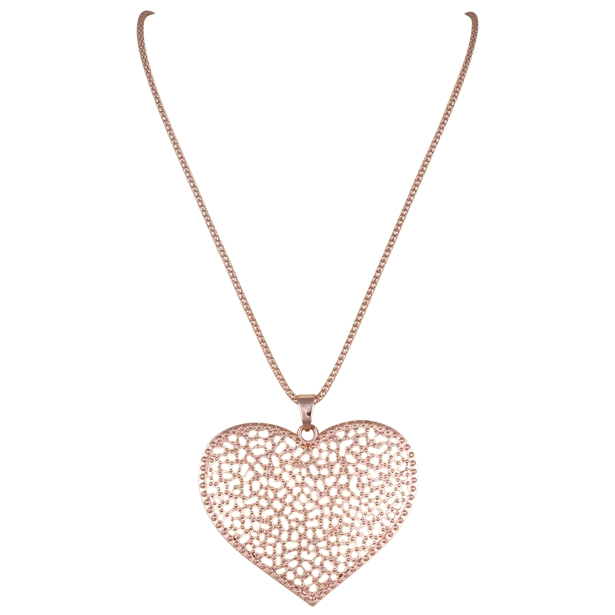 Heart Shaped Rose Gold Necklace