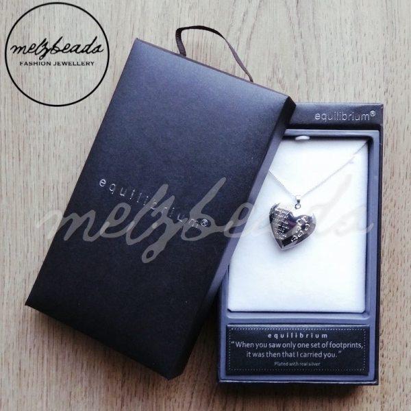 Equilibrium Footprints Locket Necklace